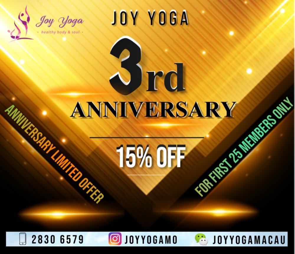 Joy yoga 週年優惠